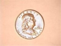 1958 Franklin 50 Cents