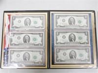 1976 Federal Reserve Bicentennial $2 Bill Set 12
