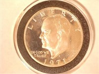 1971 Eisenhower 1 Dollar Proof, Silver Clad