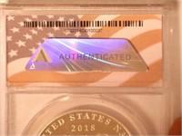 2018 Silver Medal 1 Dollar Navy