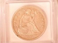 1841 Liberty Seated 1 Dollar