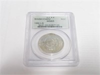1951 Comm. 50c, Silver 50 Cents Carver/Washington