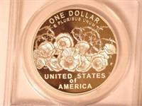 2018 Comm. Silver 1 Dollar World War I Centennial