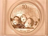 2013 Panda 10 Yuan .999 Silver