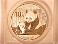 2012 Panda 10 Yuan .999 Silver