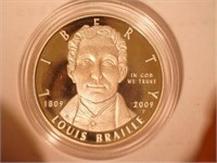 2009 Comm. $1, Silver Louis Braille Bicentennial