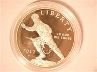2012 Comm. $1, Silver 1 Dollar Infantry Soldier, P