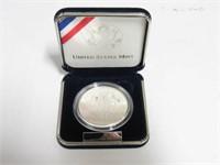 2002 Comm. Silver 1 Dollar West Point Bicentennial