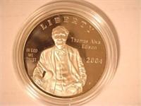 2004 Comm. Silver 1 Dollar Thomas Edison, Proof