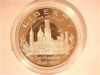 1996 Comm. $1, Silver Smithsonian Institution