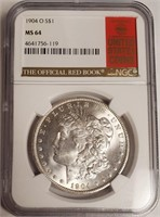 "1904 ""O"" ""MS64"" - MORGAN SILVER DOLLAR (43)"