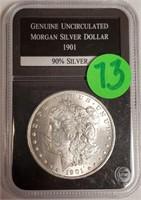 """1901 """"O"""" - MORGAN SILVER DOLLAR (73)"""