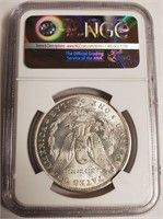 "1885 ""O'' ""MS64+"" MORGAN SILVER DOLLAR (45)"