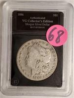 """1886 """"O"""" - MORGAN SILVER DOLLAR (68)"""