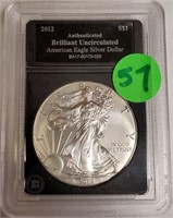 "2012 - SILVER AMERICAN EAGLE ""UNCIRCULATED"" (57)"