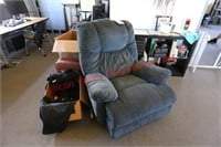 Couch, Recliner Chair, Book Case