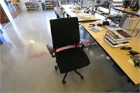 Electronic Riser Desk, Filing Cabinet and Chair