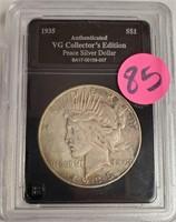 "1935 ""S"" - PEACE SILVER DOLLAR (85)"