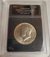 "1973 ""D"" & 1974 - JFK. HALF DOLLAR (81)"