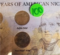 120 YEARS OF AMERICAN NICKELS (100)