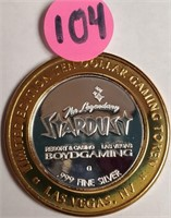 STARDUST .999 FINE SILVER GAMING TOKEN (104)
