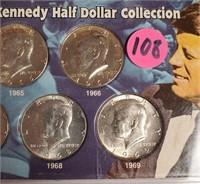 JOHN F KENNEDY HALF DOLLAR COLLECTION (108)