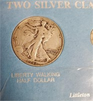 TWO SILVER CLASSICS  WALKING LIBERTY & MERCURY(97)