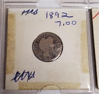 LOT OF 4 SILVER BARBER DIMES(94)