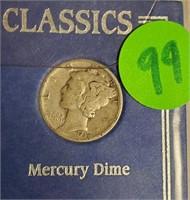 TWO SILVER CLASSICS WALKING LIBERTY & MURCURY (99)