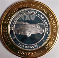OSHEAS CASINO .999 FINE SILVER TOKEN (103)