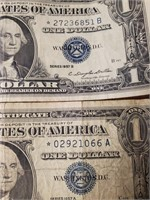 LOT OF 4 SILVER CERTIFICATES $1 DOLLAR NOTES (115)