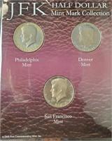 JFK HALF DOLLARS & OVAL OFFICE COIN COLLECTIO(121)