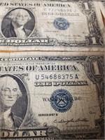4 SILVER CERTIFICATES & AMERICA'S 200TH BIRTH(123)