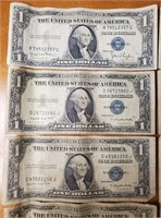 LOT OF 10 SILVER CERTIFIACATES (113)