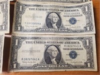 LOT OF 10 SILVER CERTIFICATES (114)
