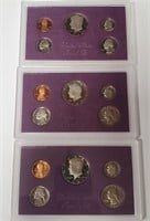 UNITED STATES PROOF SETS 1984 - 1985 - 1987 (132)
