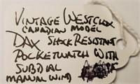 VINTAGE WESTCLOX CANADIAN MODEL DAX POCKETWATCH
