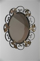Wall Mirror, with decorative frame 20x17