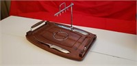 NEW ULTRA-DELUXE WOODEN CARVING BOARD, WALNUT WOOD