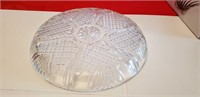 2 SERVING DISHES, CRYSTAL RCR BOWL, & GLASS TRAY