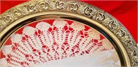 2 SILVERPLATED SERVING TRAYS, READ & SEE PICS!!!