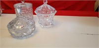 3 CRYSTAL & GLASS CANDY DISHES