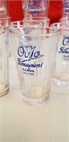 14 ORIGINAL OUZO COLLECTORS GLASSES FROM SAMOS