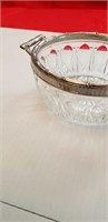 MIKASA & SILVER PLATED GLASS BOWLS, WITH SPOONS