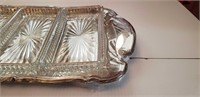 SILVER PLATED COCKTAIL SERVING TRAY, SEE PICS!