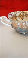 COLLECTIBLE ROYAL ALBERT CUP & SAUCER, GREY & GOLD