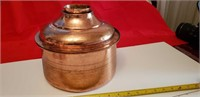 ANTIQUE COPPER CONTAINERS; 150 & 80 YRS! SEE PICS!