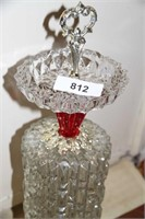 """VINTAGE 1950S GLASS STAND UP ASHTRAY, 27"""" HIGH"""