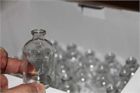 SMALL APOTHECARY BOTTLES 24 + 47, WITH STOPPERS