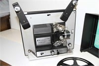 BELL & HOWELL 8MM MOVIE PROJECTOR & SCREEN